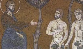 423px-Adam_and_Eve_before_God_after_their_sin